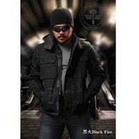 2015 New Outdoor Black Camouflage Zip Hoodie Ripstop camo Hoody Jacket
