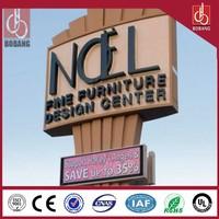 Advertising LED light letter big pylon signage/outdoor big signage