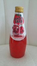 basil seed drink with fruit juice flavor