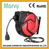 spring cable reel manufacturer 15m automatic retractable cable reel 15m extension cable reel