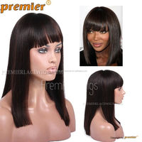 Malaysian Remy Human Hair Silk Top bob style human hair full lace wig