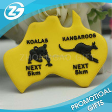 3D Fashion Design Soft PVC Australia Travel Souvenir Rubber Magnet