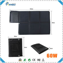 foldable solar charger 18v 60w briefcase solar panel for laptops for car/boat/golf cart