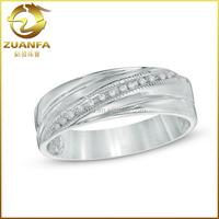 10mm unique design stylish western exotic mens wedding band diamond