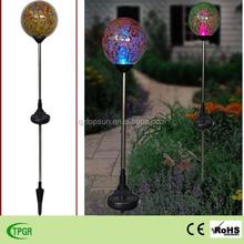 Solar LED mosaic glass ball crackle garden light outdoor decoration