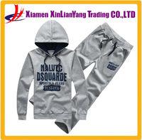 custom men sport suit pullover hoodies wholesale sweat suits