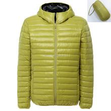 hot sell unisex softshell men and women winter, folding down jacket, ultralight with hood outdoor waterproof jacket