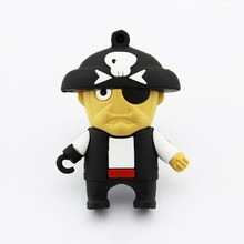 Popular pirate with one eye model usb flash drive pendrive mini pen drive convenient carrying