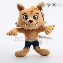 ICTI audit OEM factory custom wolf animal as a enterprice mascot