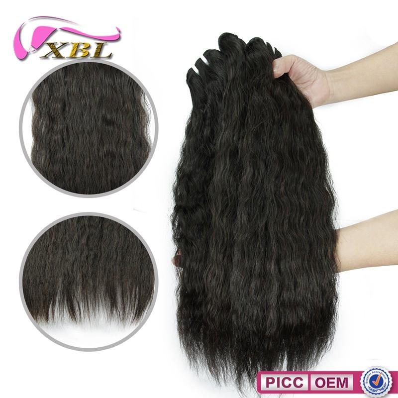XBL enreda libremente Mongol kinky cabello liso, Real virgen kinky cabello liso