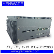 fanless embedded windows mini pc atom D525 non-cable and fanless RS232*6,RJ45*2,USB*4,VGA,support 1080p,PCI*1