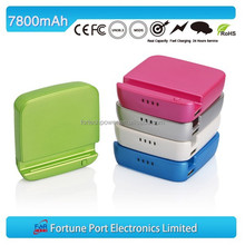 7800mah 18650 rechargeable battery charger external power pack with mobile phone holder