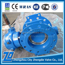 Made in ZhengDie Company DN200 PN10 butterfly valve