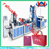 auto ultrasonic non-woven bag machine soft loop hand bag machine sewing loop handle small scale production non woven bag machine
