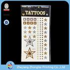 Moda de alta qualidade metálica tatuagem, baratos transferência temporária de água metálicos etiqueta do tatuagem