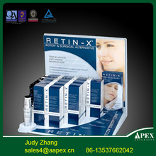 Apex High quality with cheap price custom print and logo cardboard paper cosmetic display shelf