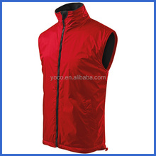 Red mens sleeveless windbreaker vest