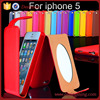 The mirror phone case for iphone 5, cover skin case for iphone 5s
