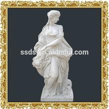 Natural estatua de mármol de bella dama