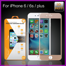 2015 New Product,3D Full Cover Carbon fiber tempered glass screen protector for iphone 6 with Wholesale Price!