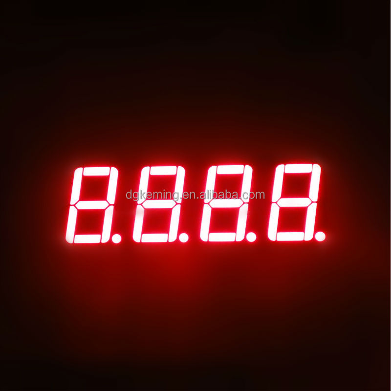 Red 0.5641inch four 4 quad digit led sign board