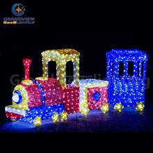 large waterproof wedding party LED decoration train light acrylic light decoration for holiday decoration