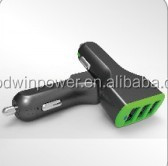 universal triple ports USB car charger chargeing for Smartphone, Tablets, GPS