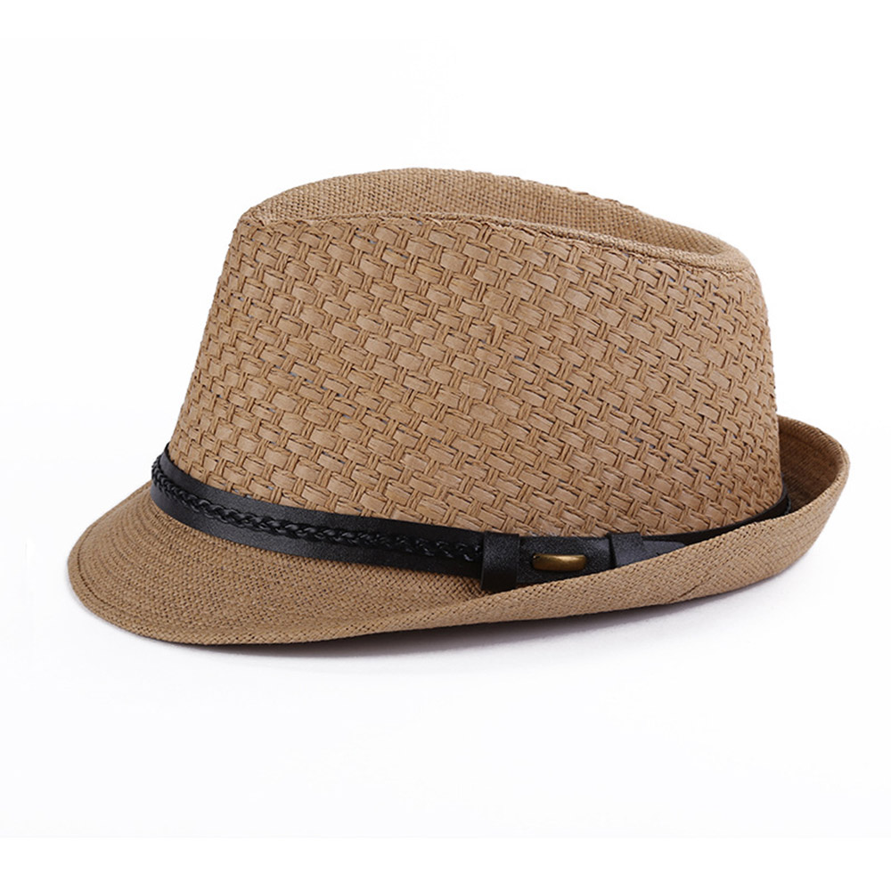 2017 Summer Fedora Straw Hats For Men Handmade Crochet Panama Sun ...