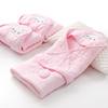 High Quality White Cotton Children's Baby Terry Bath Towels With Hood