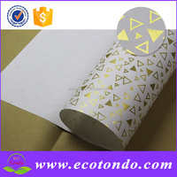 OEM Wrapping Gift Paper / Custom Wrapping Paper Golden /Silver Stamping Print Paper