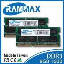 DDR3 SO 1600 8GB ram laptop memory compatible.oem rammax module dram