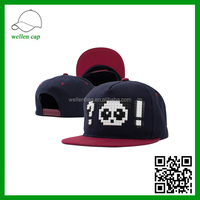 Three-dimensional pattern of black and white panda Lego hip hop cap flat-brimmed hat