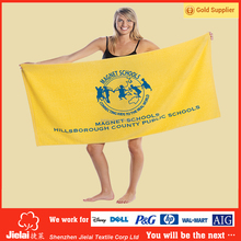 Popular customized screen printed promotional bath towel for beach