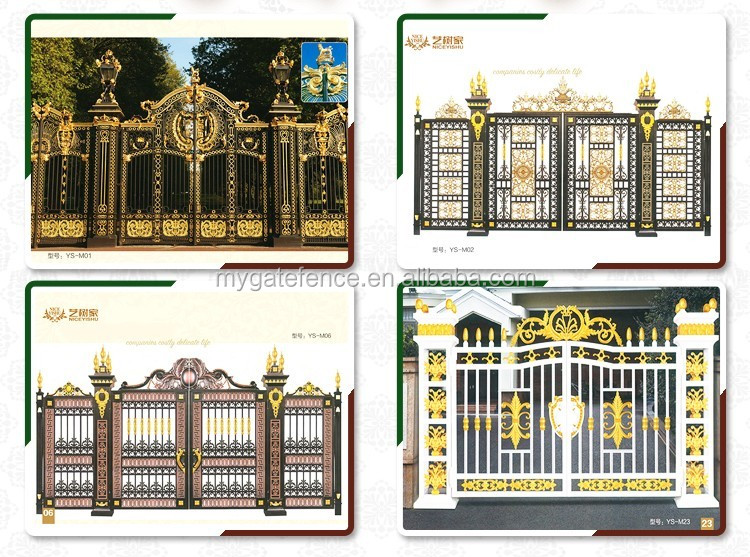 Yishujia Factory Decorative Front Gate,Aluminum Villa Main House ...