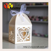 Paper sweets cake chocolate gifts box laser cut wedding favour boxes