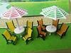 Sun Umbrella , 1:150 Scale Aprox. N For Model Railroads Scenery & Trains