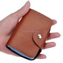 Leather ID/ATM card namecard holder pocket credit card case