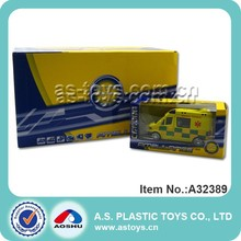 Diecast Pull Back Ambulance With IC/ 1:32 Alloy Ambulance car