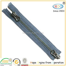 Two ways open end double slider Metal zipper for sale