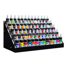 Custom cosmetic store nail polish display stand, stock lot hot sale tattoo ink display shelf, pigment showing display rack