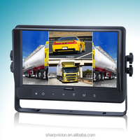 9-inch quad car dvr monitor