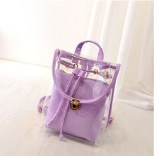 For students/young girls new fashion purple back bag