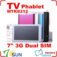 """7"""" 3G Phone Tablet PC MTK8312 Android 4.2 1GB RAM 8GB ROM Dual core 7 inch tablet pc with 3g mobile phone function"""