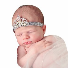 2015 new style Crown sequins thin baby head band