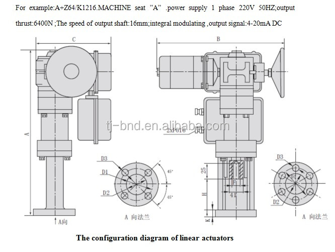 electric control valve linear actuator   electric linear actuator china  mainland  valves