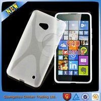 2015 New product x line wave rubber gel cover for microsoft lumia 640 case , for nokia lumia 640 cover