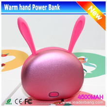 USB Rechargeable Hand Warmer Power Bank Electronic Heater with 4500mAh Li Polymer Battery Power Bank
