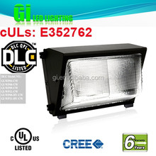 6 years warranty DLC UL cUL outdoor mounted led wall light with Patents