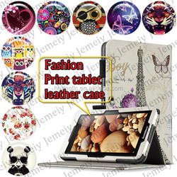 """For Acer ICONIA W510 10.1"""" Tablets Printing Folding PU Leather Case Media Stand Folio Case Cover"""