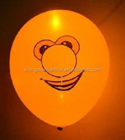 12inch LED flashing balloon factory latex material childen's favorate toys for promotional toys